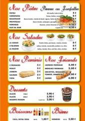 Menu Hasta la Pizza - Les pates, les salades, les paninis et boissons