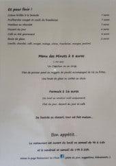 Menu Les Filaos - Les desserts et menus