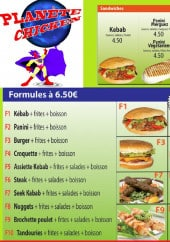 Menu Planete chicken - Les formules