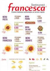 menu Francesca page 2