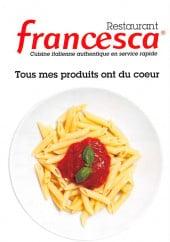 menu Francesca page 1