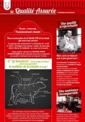 menu La Boucherie page 2