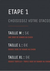 menu O'tacos page 1