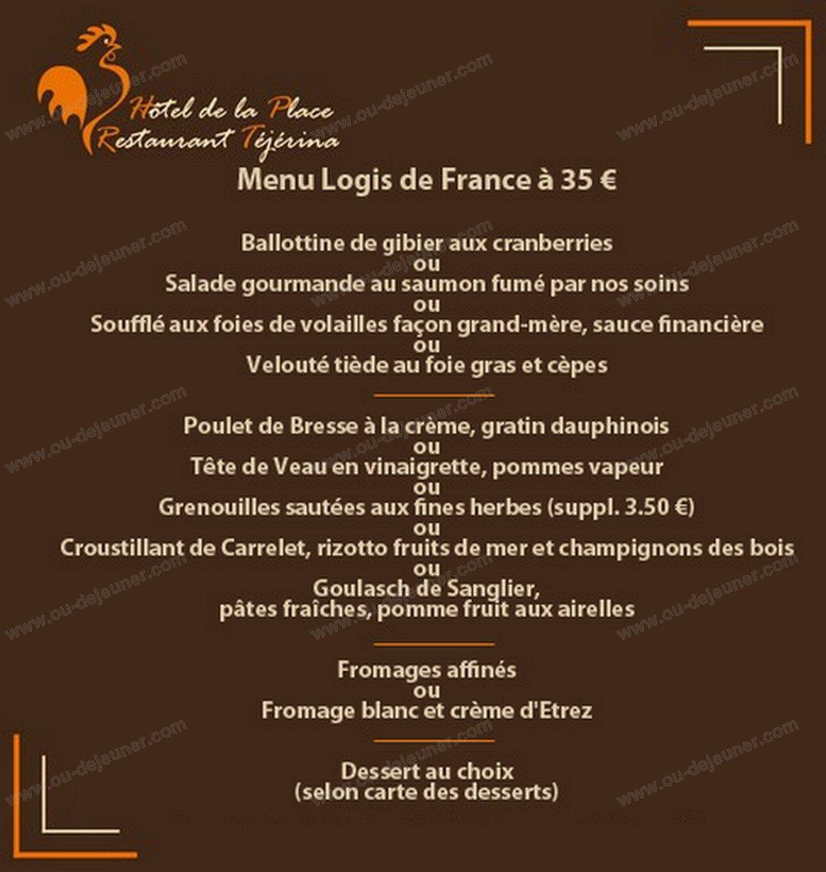 T j rina polliat carte menu et photos for Carte des formule 1 hotel en france