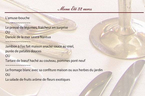 H tel de paris moulins carte menu et photos for Menu ete original