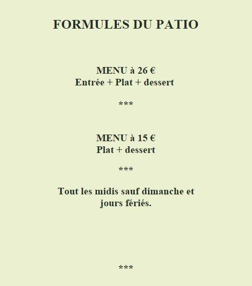 Le Patio  U00e0 Greoux Les Bains  Carte