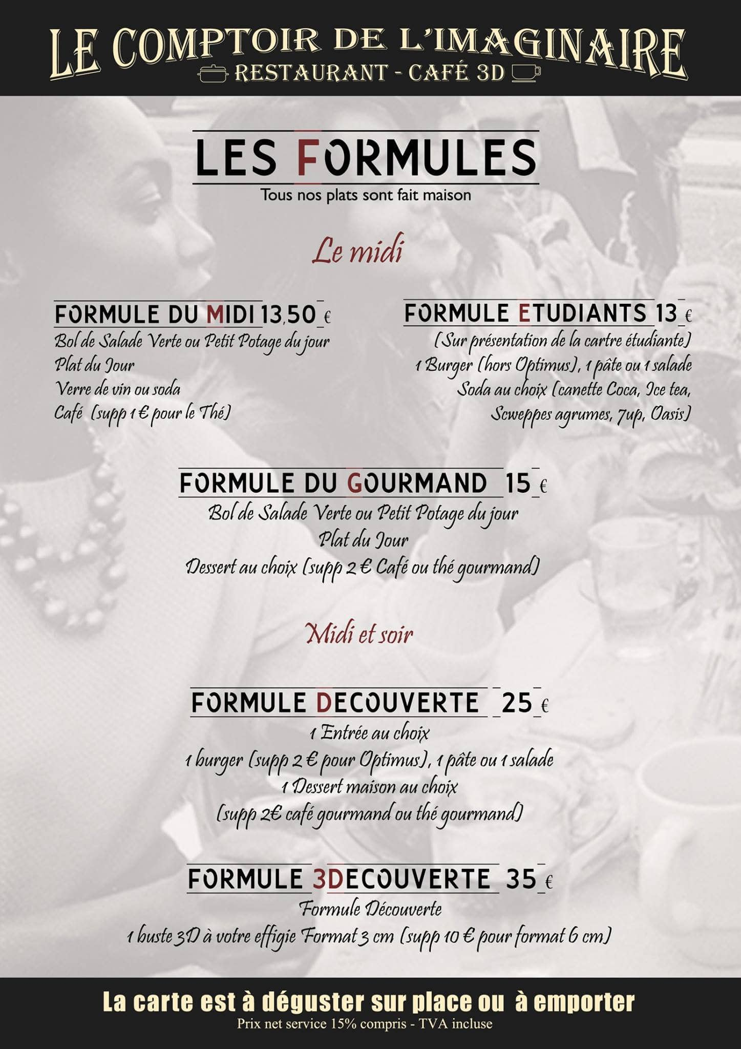 Le comptoir de l 39 imaginaire nice carte menu et photos - Le comptoir de l assurance ...