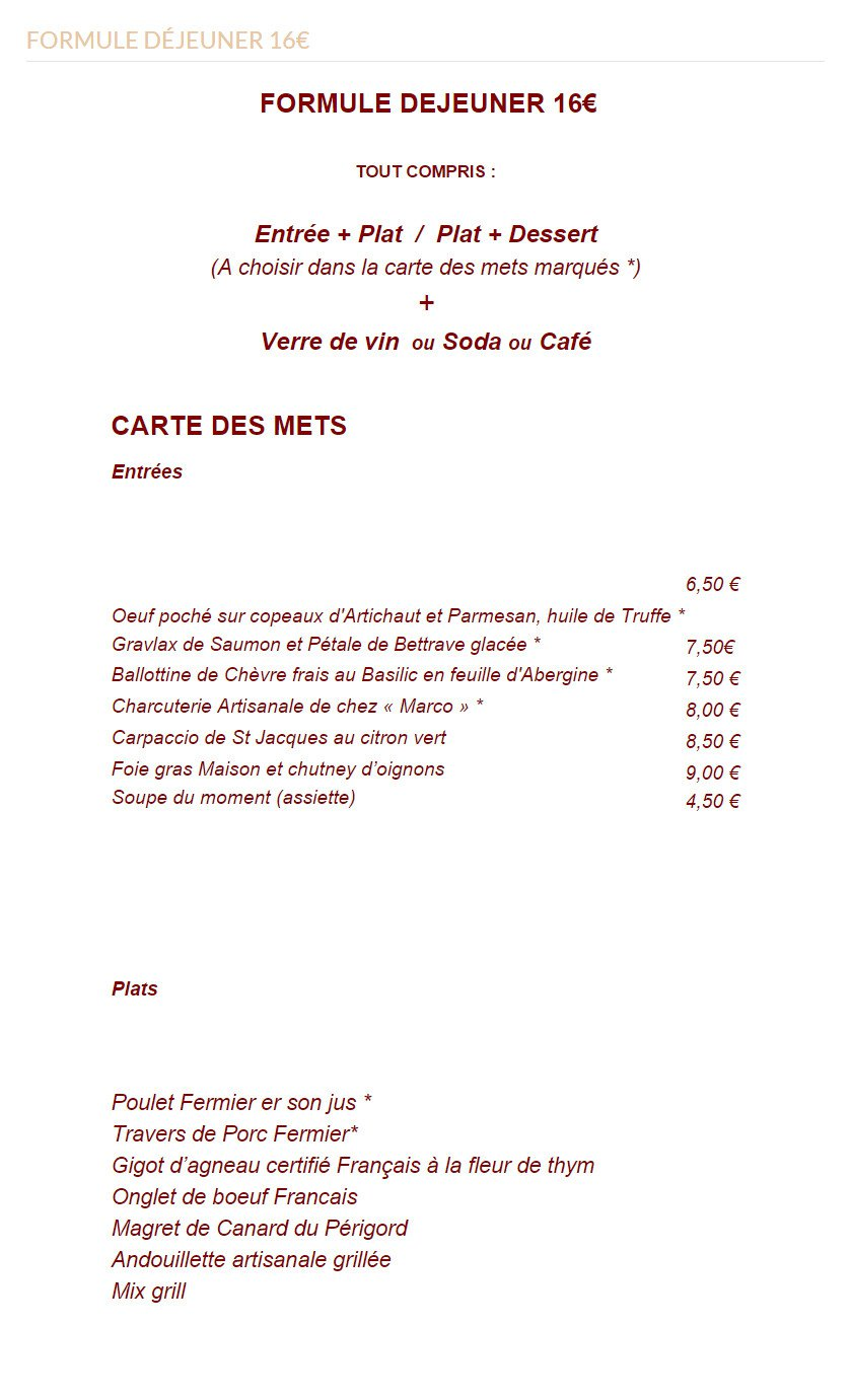 Terroir divin nice carte menu et photos - Arte la cuisine des terroirs ...