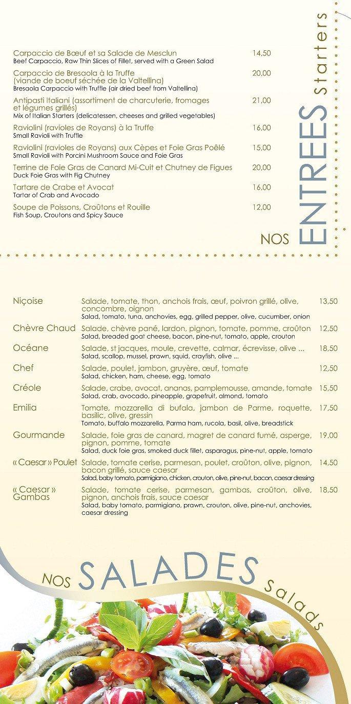 nouvelle arrivée Garantie de satisfaction à 100% assez bon marché Le Collier à Antibes, carte-menu et photos