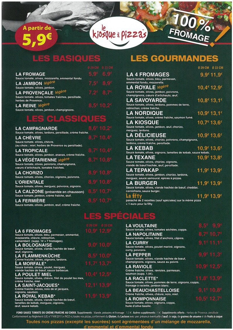 Carte Kiosque A Pizza.Le Kiosque A Pizzas A La Voulte Sur Rhone Carte Menu Et Photos