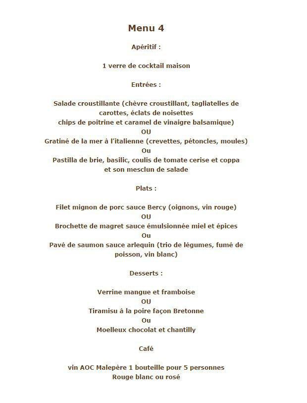 Restaurant Le Moulin Pamiers Menu