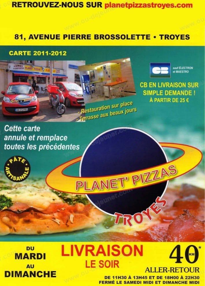 Planet pizzas troyes troyes carte menu et photos - Livraison troyes pizza ...