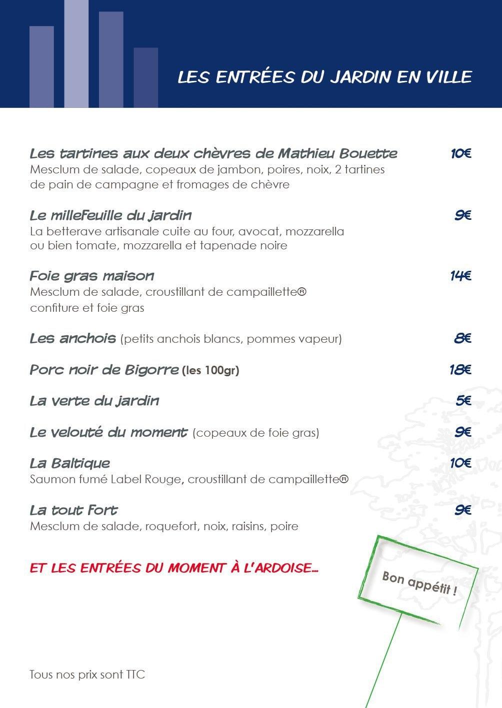 Le jardin en ville carcassonne carte menu et photos - Restaurant le jardin en ville carcassonne ...