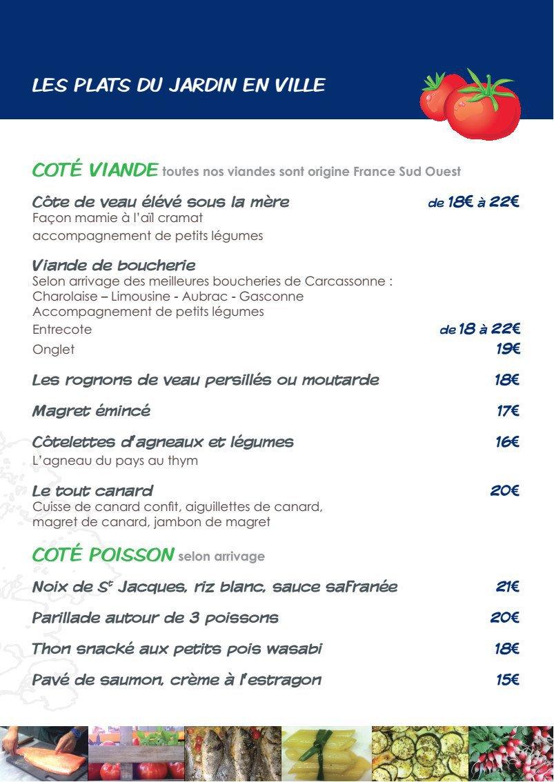 Le jardin en ville carcassonne carte menu et photos for Restaurant le jardin en ville