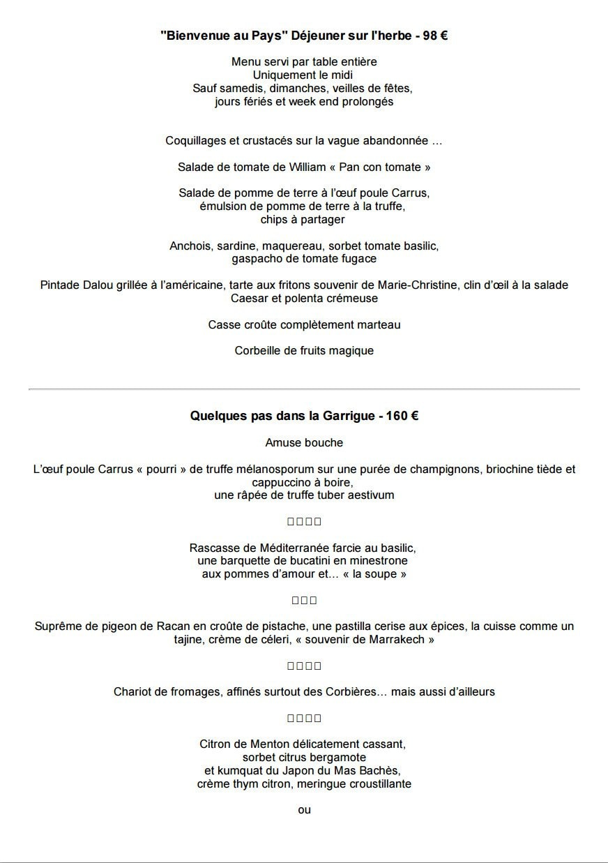 Auberge Du Vieux Puits  U00e0 Fontjoncouse  Carte