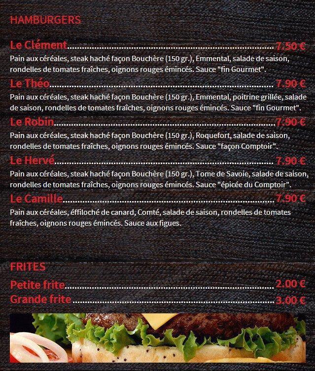 Cuisine Et Comptoir Rodez.Comptoir Du Burger A Rodez Carte Menu Et Photos