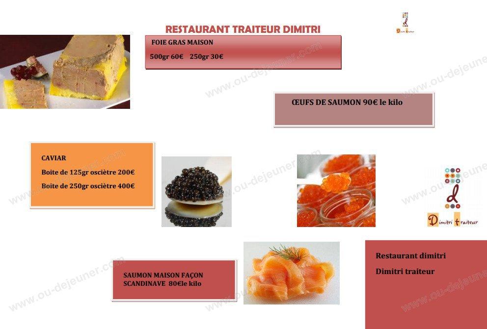 Dimtri Restaurant Menu