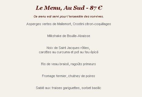 Une table au sud marseille 2 carte menu et photos - Restaurant une table au sud marseille ...