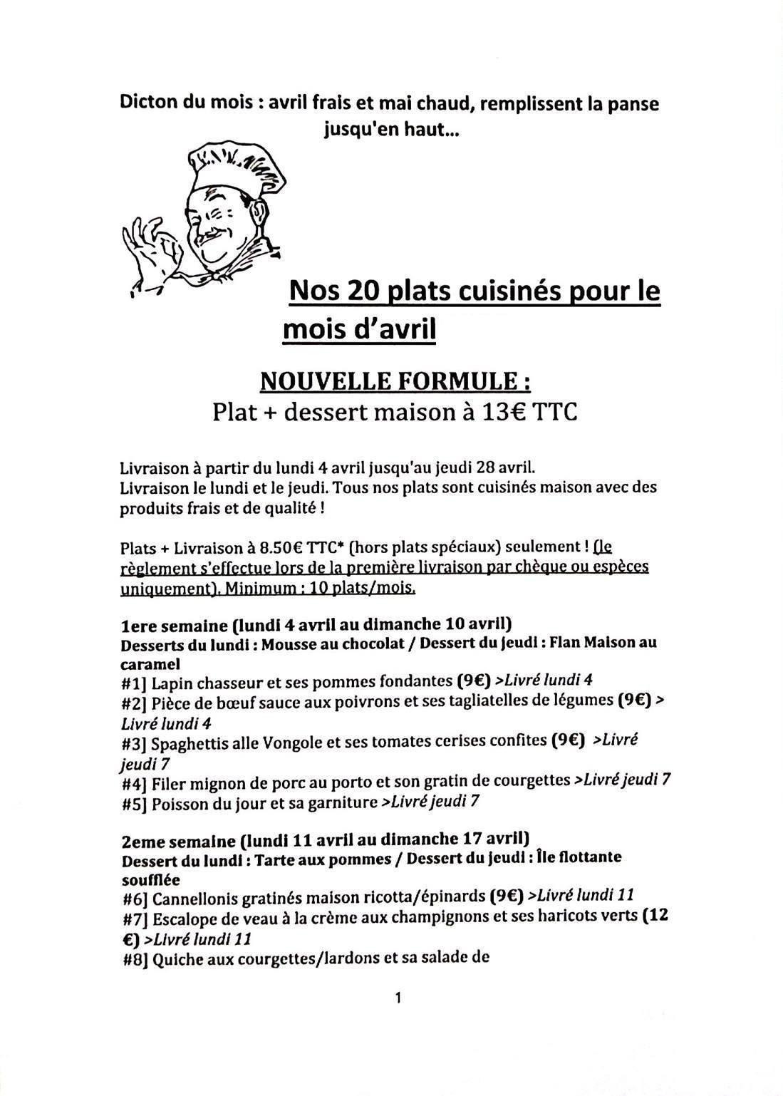 cuisine livrée à domicile à marseille 10, carte-menu et photos - Cuisine Livree A Domicile