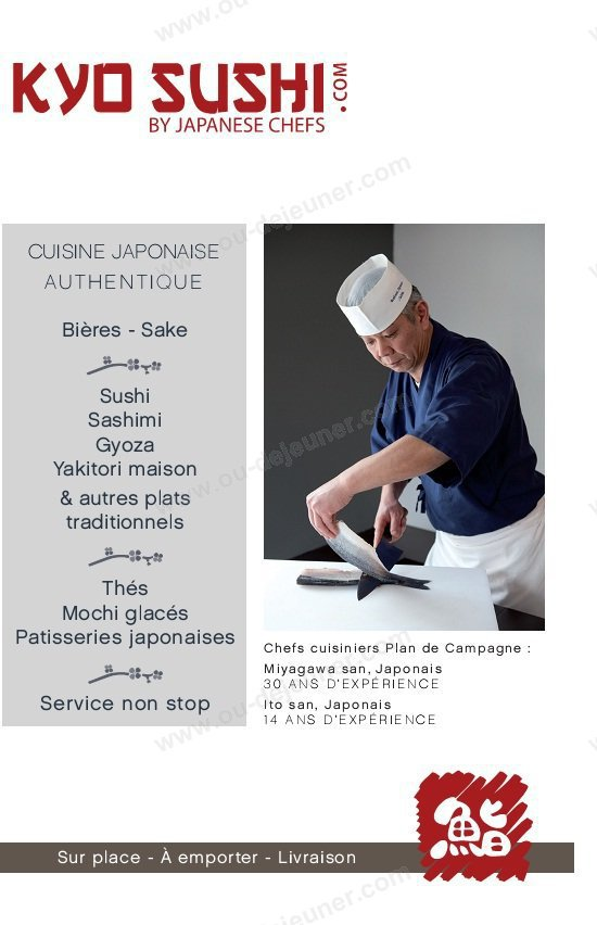 Kyo sushi plan de campagne carte et menu en ligne - Restaurant au bureau plan de campagne ...