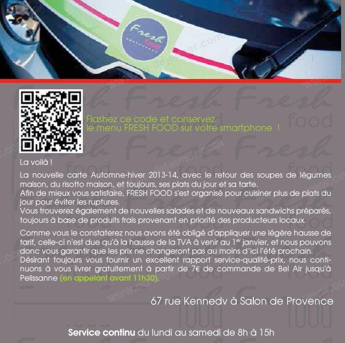 Fresh food salon de provence carte menu et photos for Mike pizza salon de provence