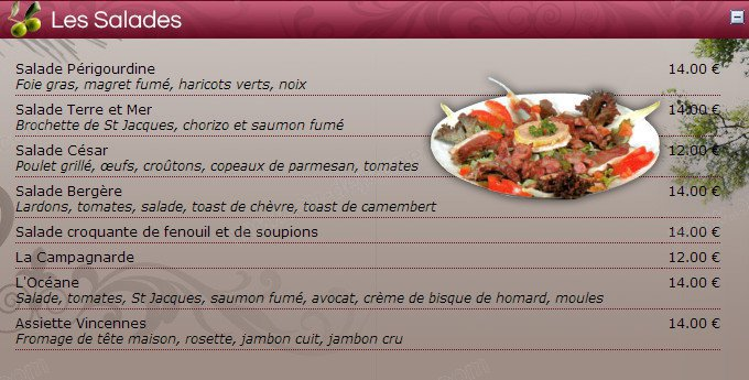 Le vincennes salon de provence carte menu et photos for Restaurant poisson salon de provence