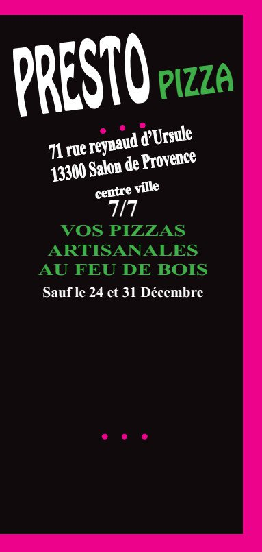 Presto Pizza Salon De Provence Of Presto Pizza Salon De Provence Carte Menu Et Photos