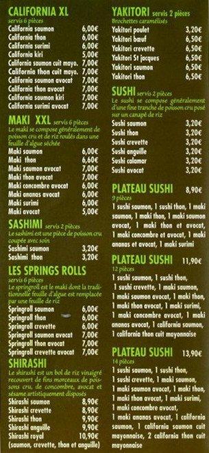 Restaurant Le Globe La Carte Des Menus