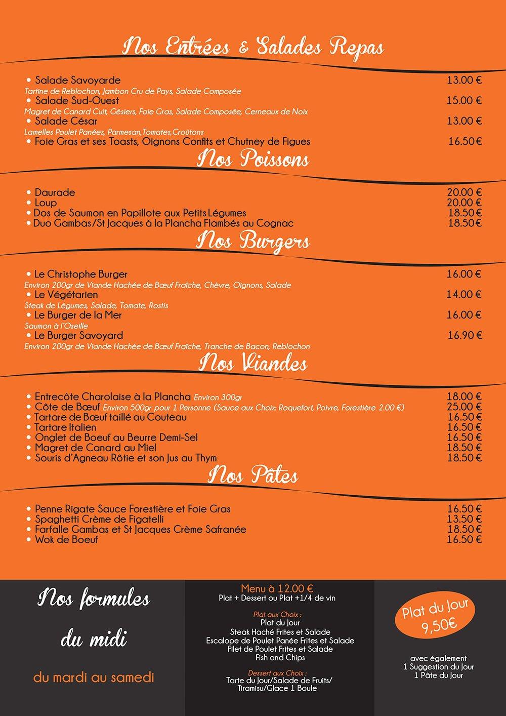 Caf christophe cabries carte menu et photos - Restaurant le bureau plan de campagne ...