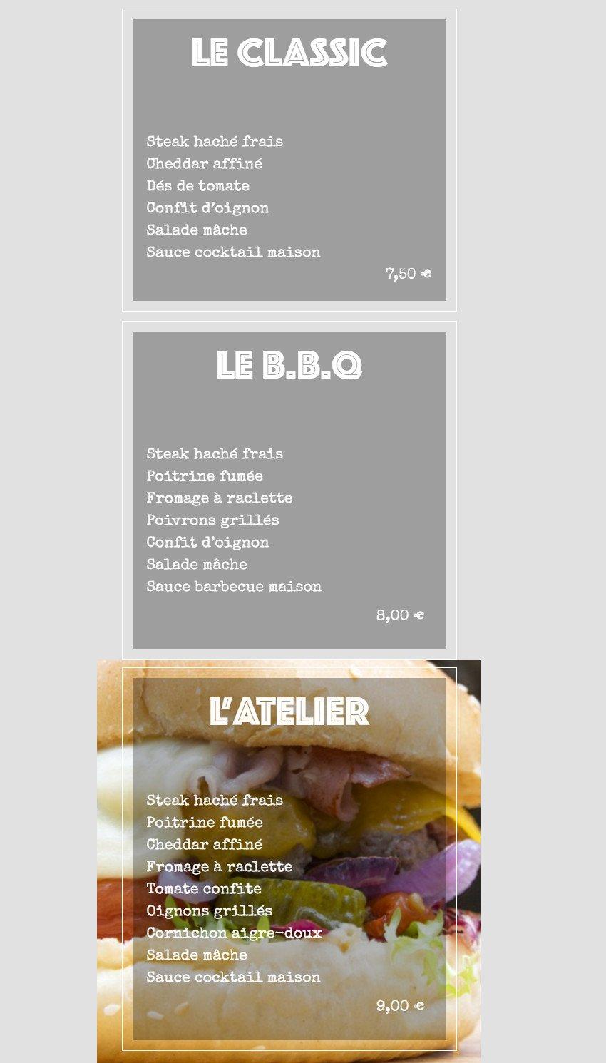 atelier du burger caen carte menu et photos. Black Bedroom Furniture Sets. Home Design Ideas