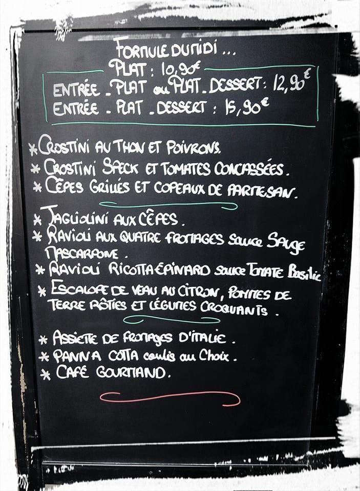 exemple menu italien