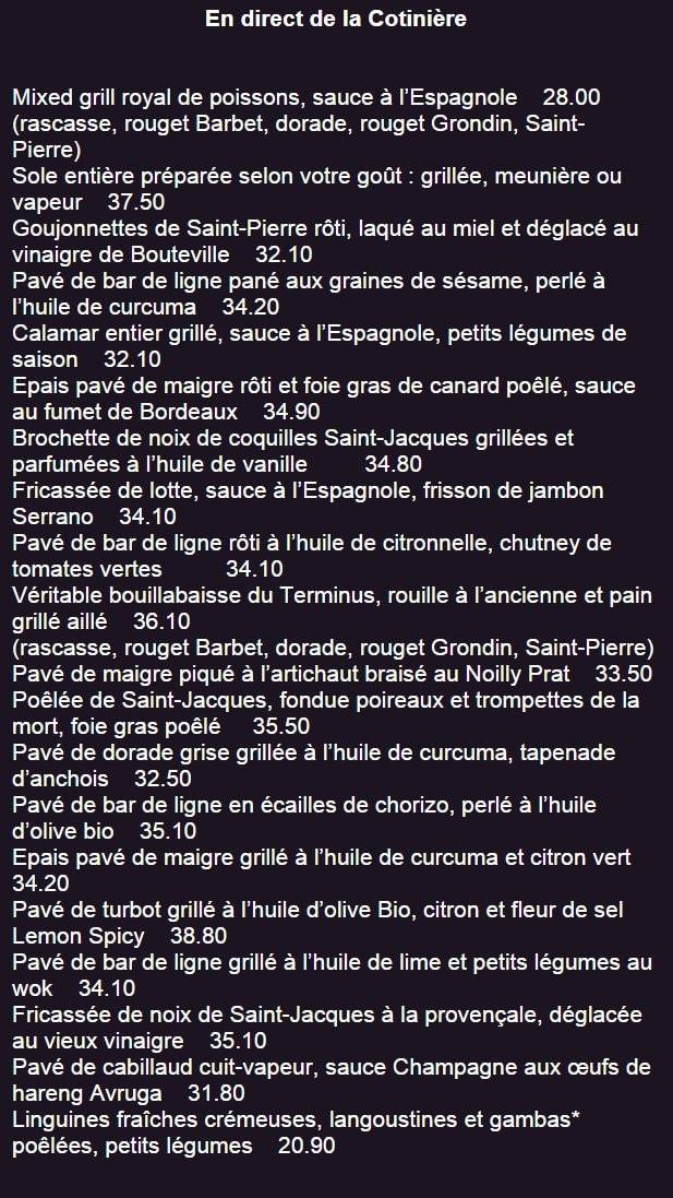 Restaurant Menu Terroir Ou Menu Saveur
