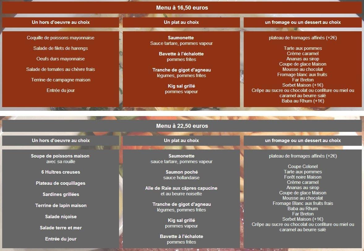 Cafe Restaurant Du Port A Paimpol Carte Menu Et Photos