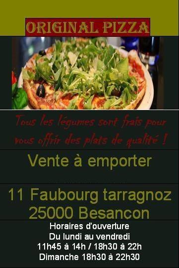 Original pizza à Besancon, carte-menu et photos