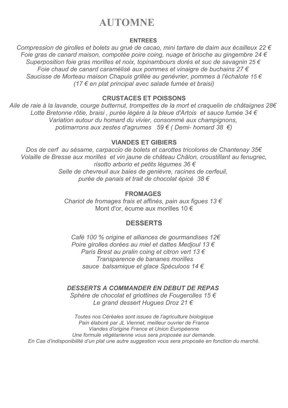 Le france villers le lac carte menu et photos - Resto du port villers le lac ...