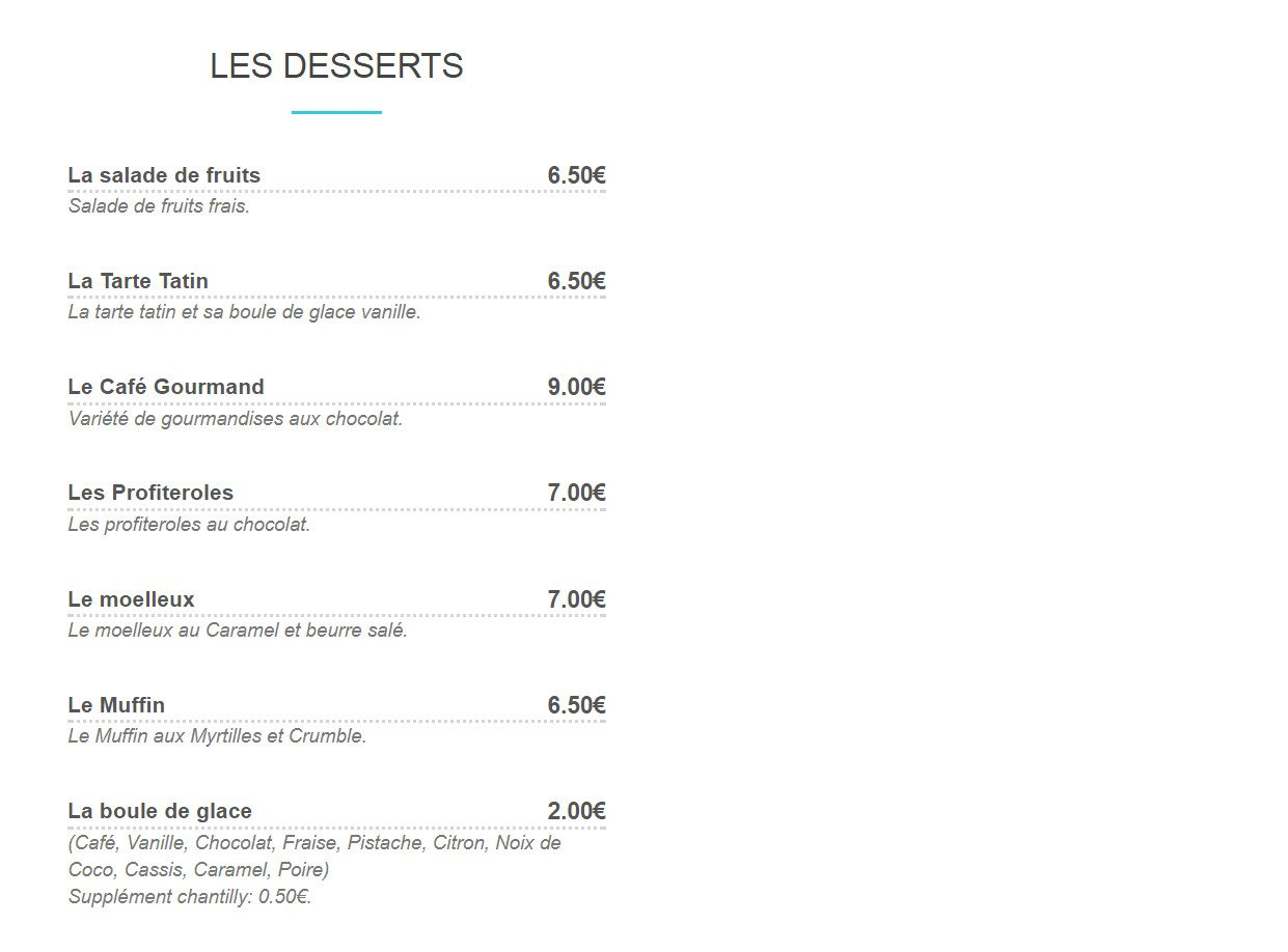 Le melyss villers le lac carte menu et photos - Resto du port villers le lac ...