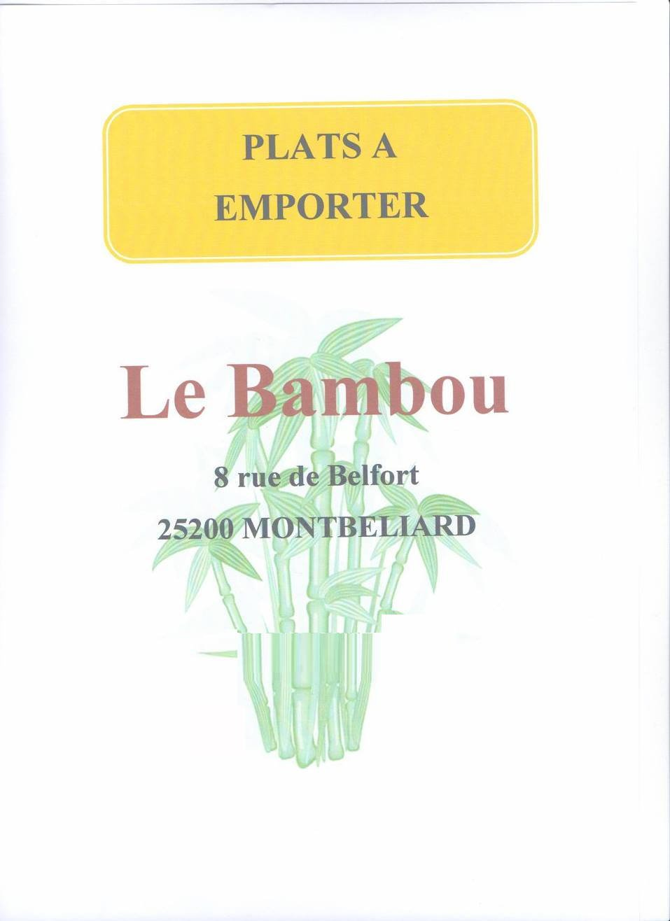 le bambou montbeliard carte menu et photos. Black Bedroom Furniture Sets. Home Design Ideas