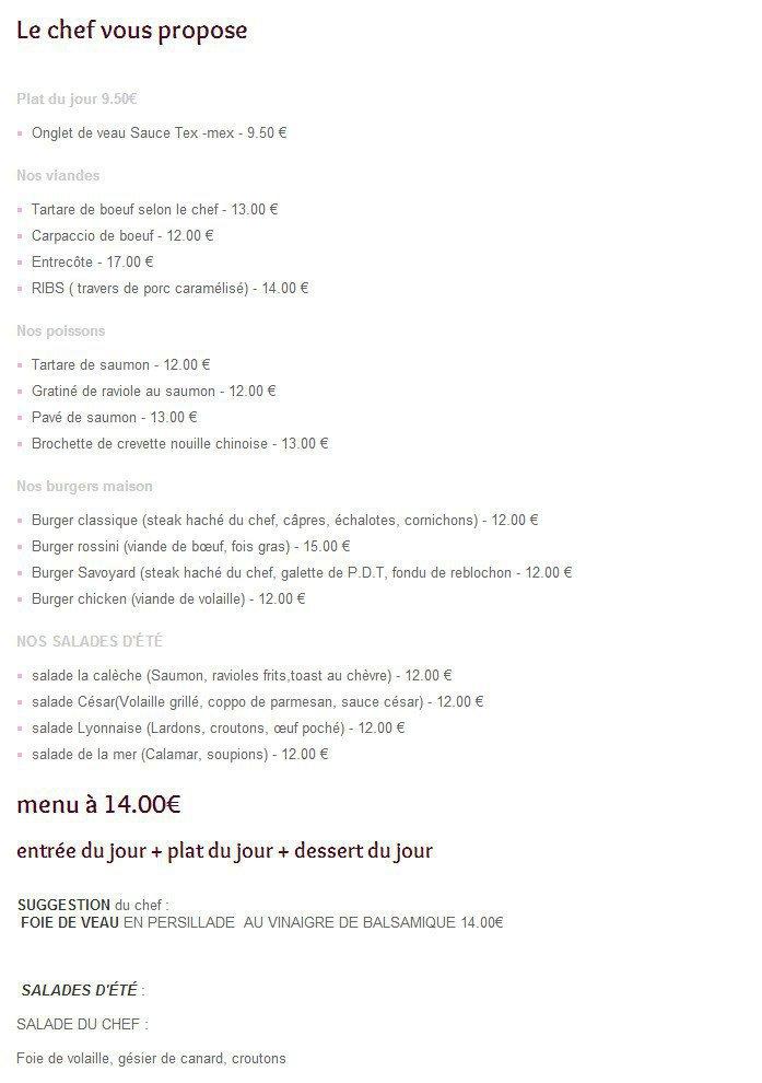 La cal che portes les valence carte menu et photos for Restaurant le loft portes les valence