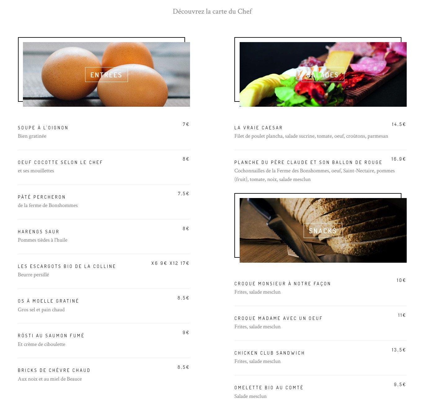 caf bleu chartres carte menu et photos. Black Bedroom Furniture Sets. Home Design Ideas