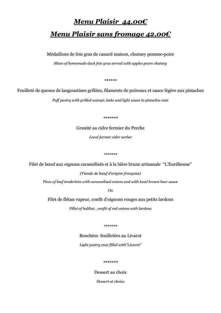 Le tripot chartres carte menu et photos - Restaurant japonais chartres ...