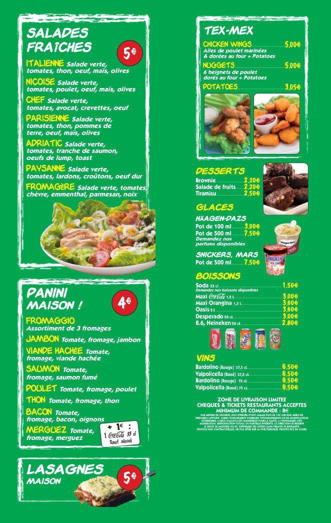 Pronto pizza chartres carte menu et photos - Restaurant japonais chartres ...