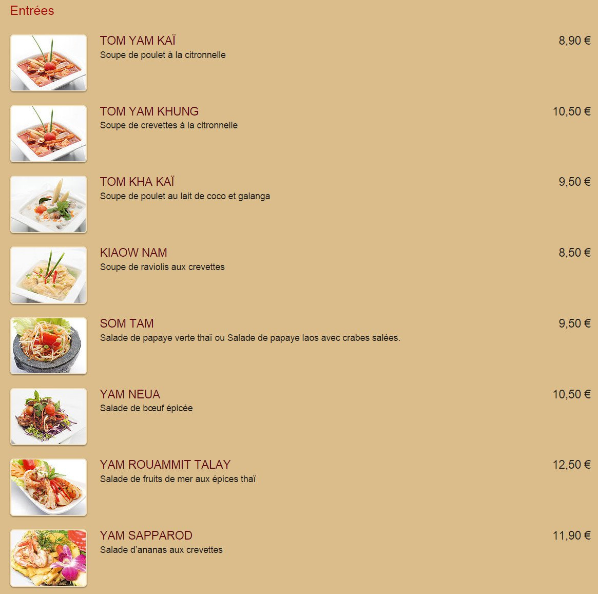 thai phuket brest carte menu et photos. Black Bedroom Furniture Sets. Home Design Ideas