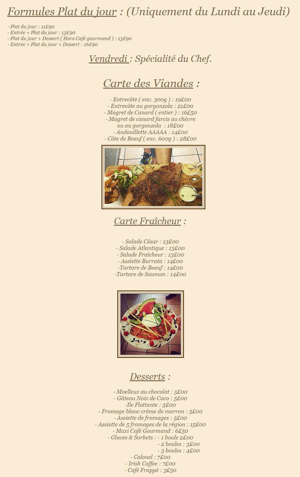 Le verre y table nimes carte menu et photos - Restaurant viroflay le verre y table ...
