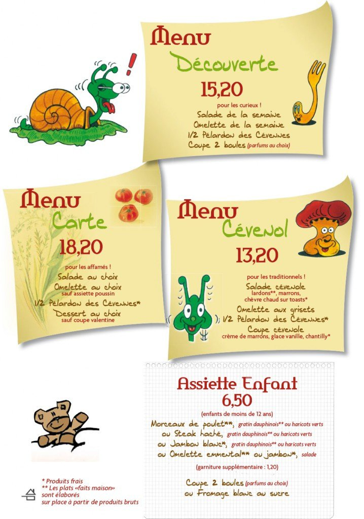 Le jardin c venol ales carte menu et photos for Le jardin cevenol