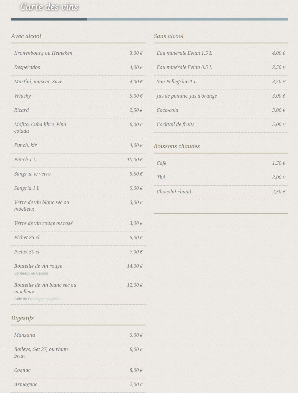 La table du 57 toulouse carte menu et photos - La table du comtat seguret 84 ...