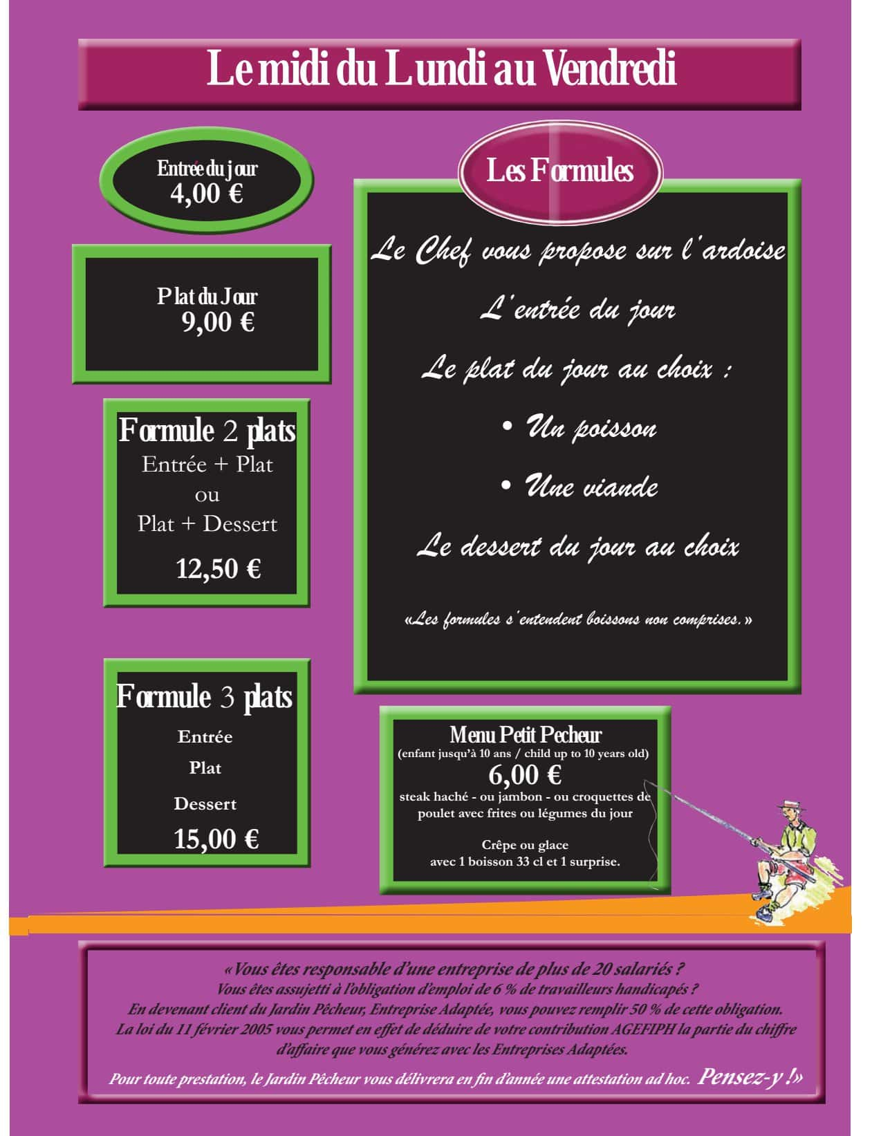 Le jardin p cheur bordeaux carte menu et photos for Le jardin menu