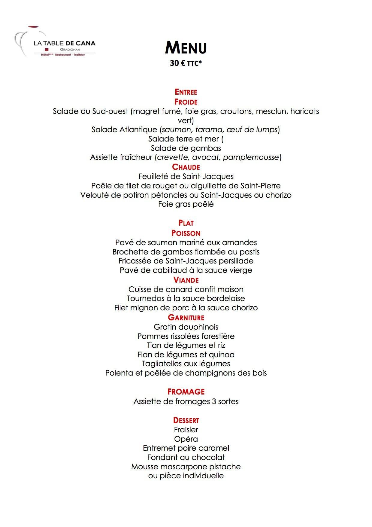 La table de cana gradignan carte menu et photos - Hotel la table de cana gradignan ...