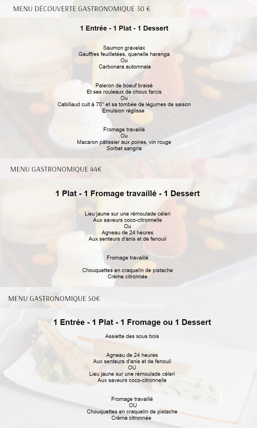Le clos du roy saint emilion carte menu et photos for Menu ete original