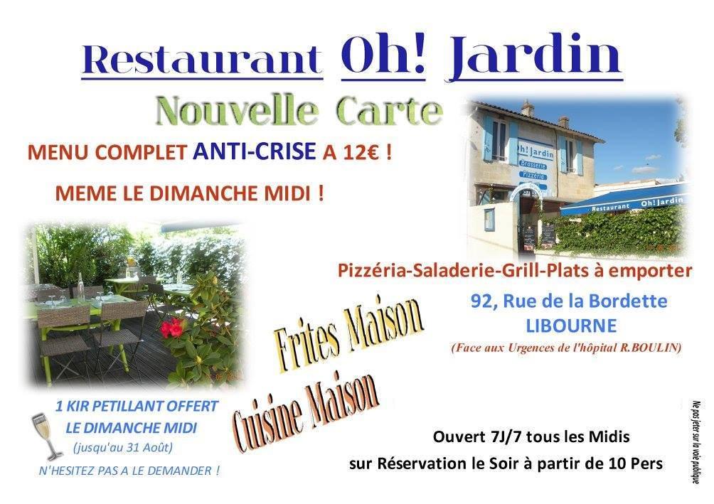 Oh jardin libourne carte menu et photos for Restaurant jardin 92