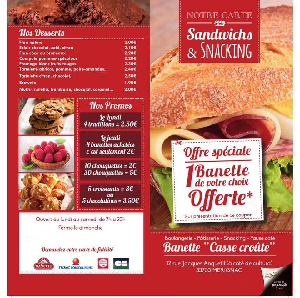 Banette casse cro te merignac carte menu et photos for Four pour restaurant
